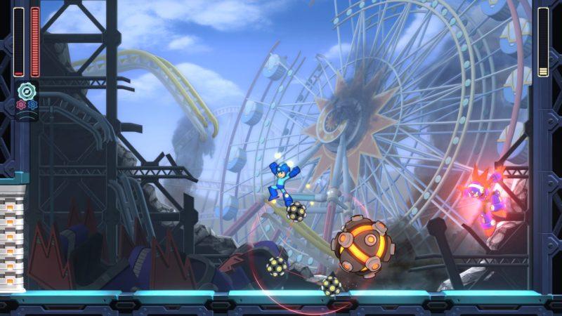 Megaman 11 - Baston, Fête Foraine, Grande Roue, Ville détruite