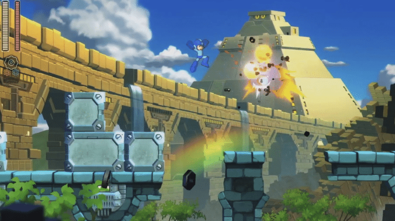 Megaman 11 - Pont, Temple Maya, Baston