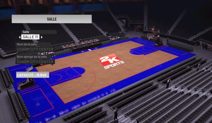 NBA 2K19 - création de terrain