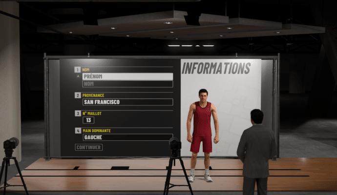 NBA 2K19 - création de mon joueur