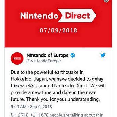 Nintendo Direct : tweet