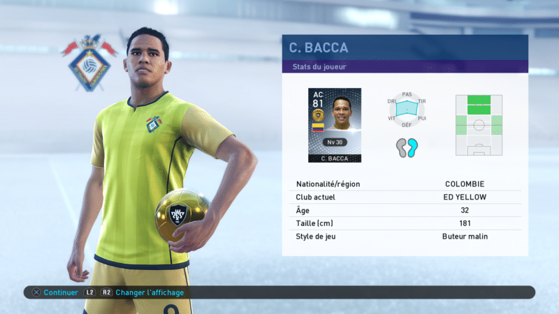 pes 2019 bacca