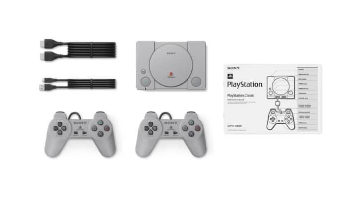 PlayStation Classic - contenu boîte