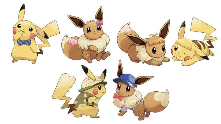 Pokémon Let's Go - Pikachu et Evoli