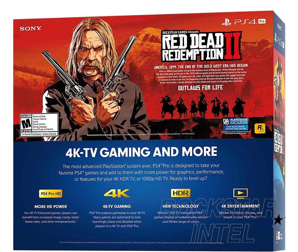 Red Dead Redemption 2 bundle ps4 pro