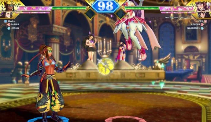 SNK Heroines Tag Team Frenzy - Zabrina contre Athena