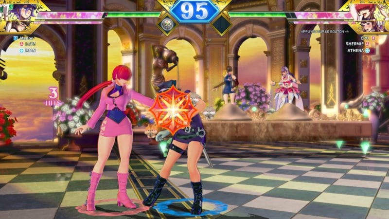 SNK Heroines Tag Team Frenzy - Love contre Shermie