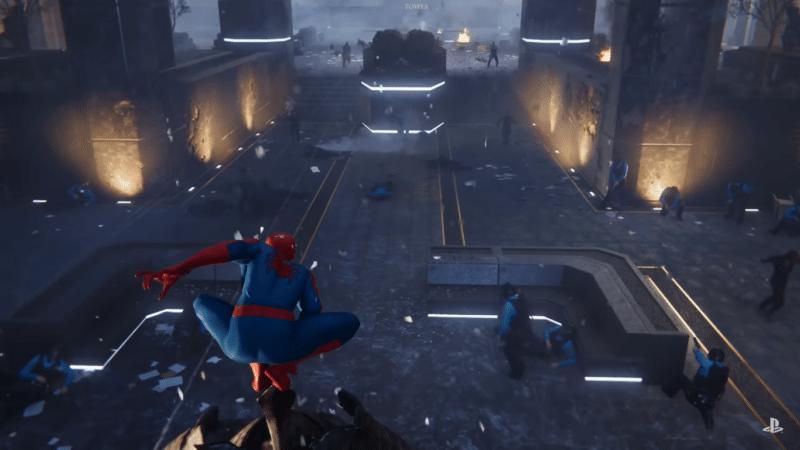 Spider-Man pose