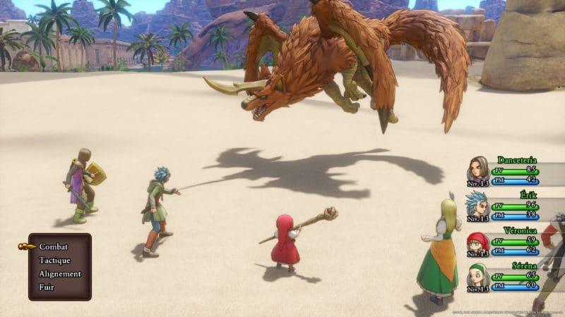 Test Dragon Quest XI - combat