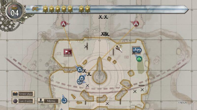 Valkyria Chronicles 4 système BLiTZ carte