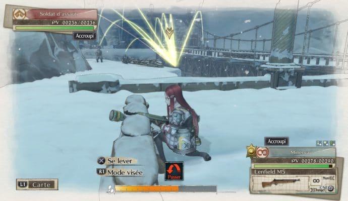 Valkyria Chronicles 4 combat sous la neige