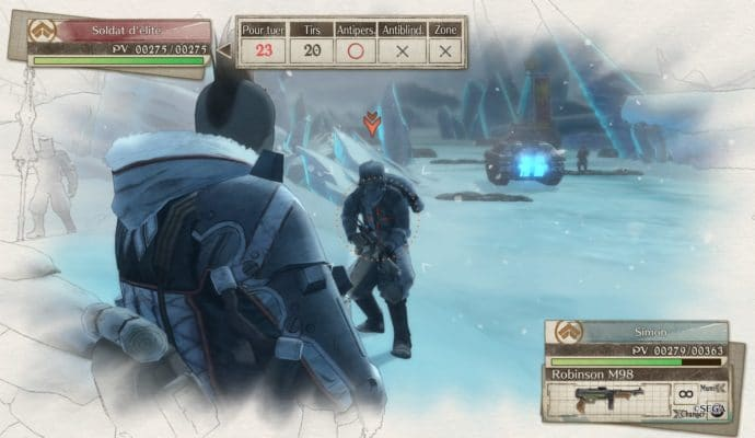 Valkyria Chronicles 4 visée safe