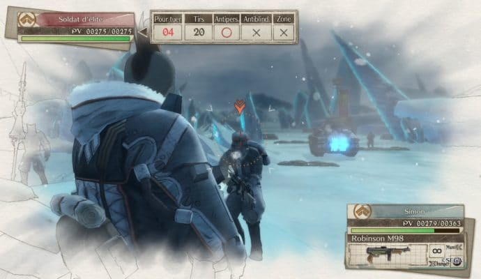 Valkyria Chronicles 4 visée points faibles