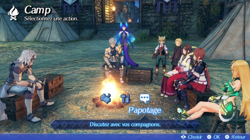 Xenoblade Chronicles 2: Torna - The Golden Country - camping
