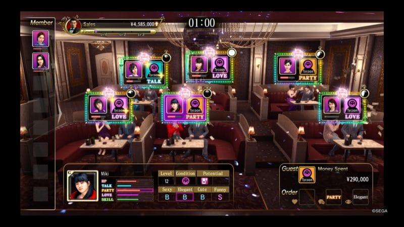 Yakuza Kiwami 2 hôtesse gameplay