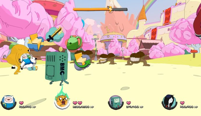 Adventure Time : Les pirates de la terre de ooo combat