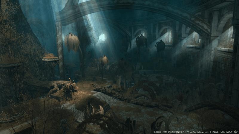 final fantasy XIV donjon - l'Arboretum Sainte-Mocianne