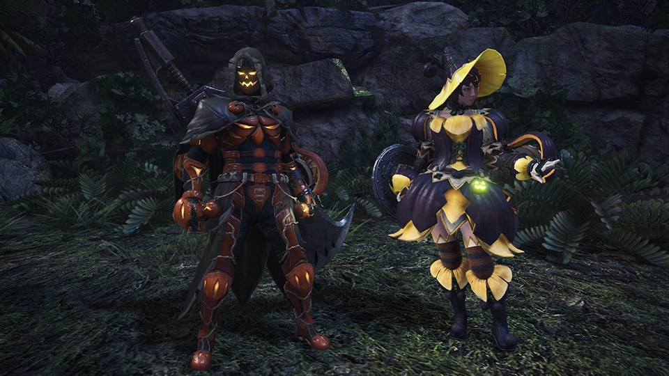 monster hunter world festival automne tenues