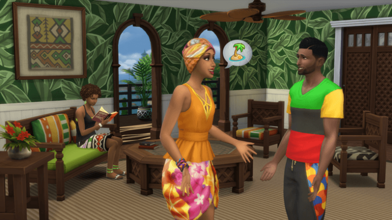 Sims 4 caraïbes personnage
