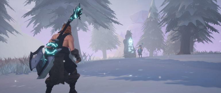 frozen flame: forêt enneigée
