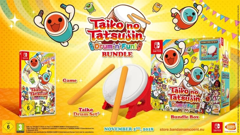 Taiko no Tatsujin: Drum 'n' Fun - bundle et gameplay