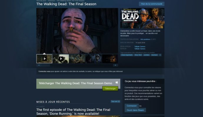 the walking dead : l'ultime saison steam