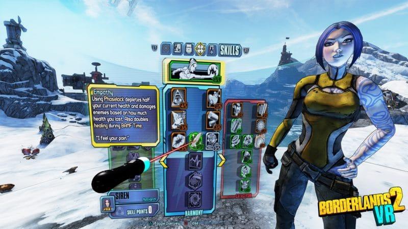 Borderlands 2 VR arbre de compétences Maya