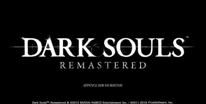 Dark Souls: Remastered - Ecran Titre