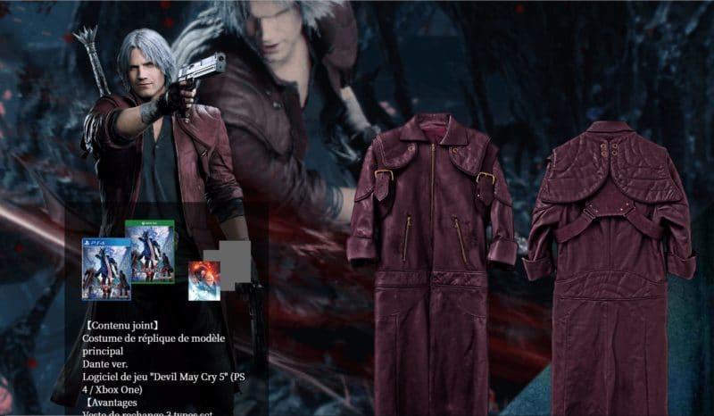 Devil May Cry 5 manteau de Dante