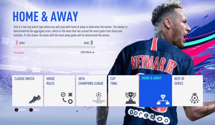 FIFA 19 - mode de coup d'envoi