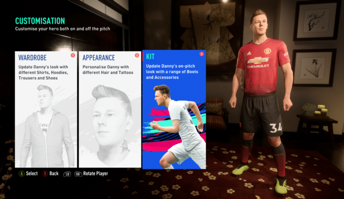 FIFA 19 - L'aventure personnage