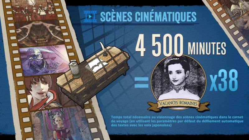 Final Fantasy XIV infographie - Scènes cinématiques