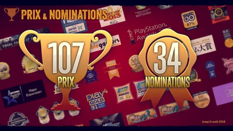Final Fantasy XIV infographie - Prix et nominations