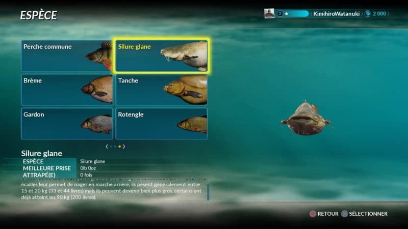Fishing Sim World codex poissons