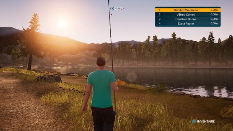 Fishing Sim World fin de journée