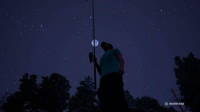 Fishing Sim World pêcheur au clair de lune
