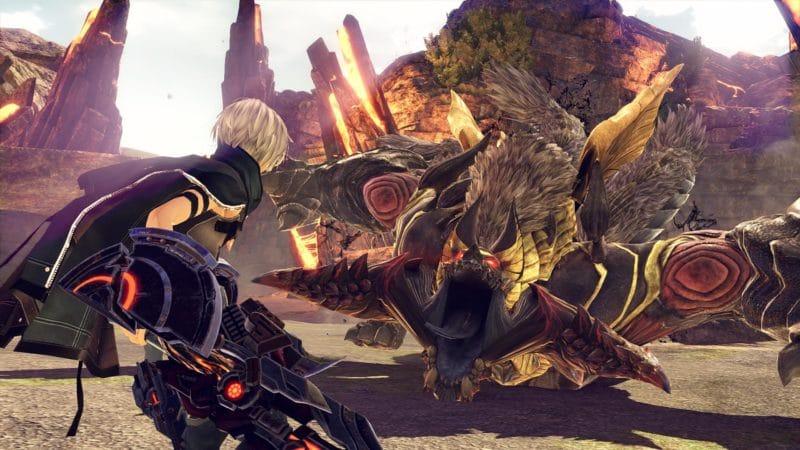 God Eater 3 notre héros face à un aragami