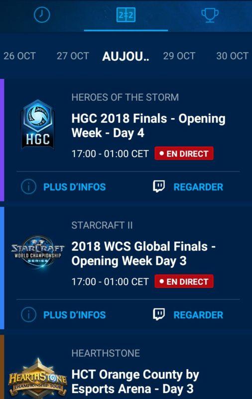 Application Blizzard eSport rendu image