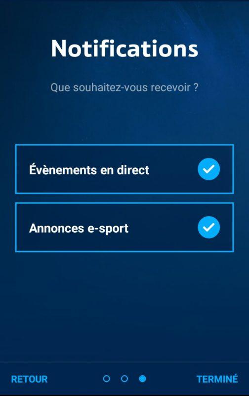 Application Blizzard eSport