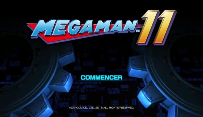 Mega Man 11 - Title Screen