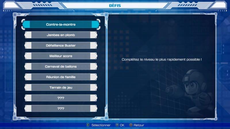 Mega Man 11 - Mode défi