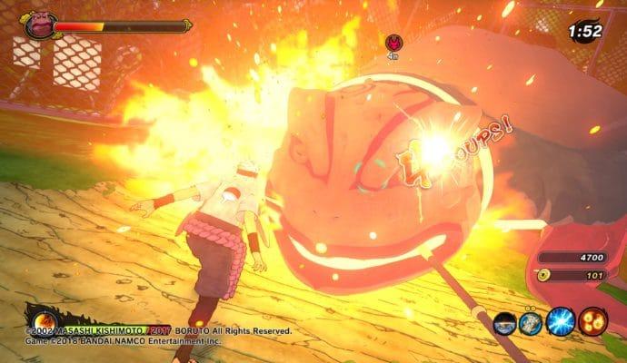 Naruto to Boruto: Shinobi Striker - Technique Katon sur Gamabunta