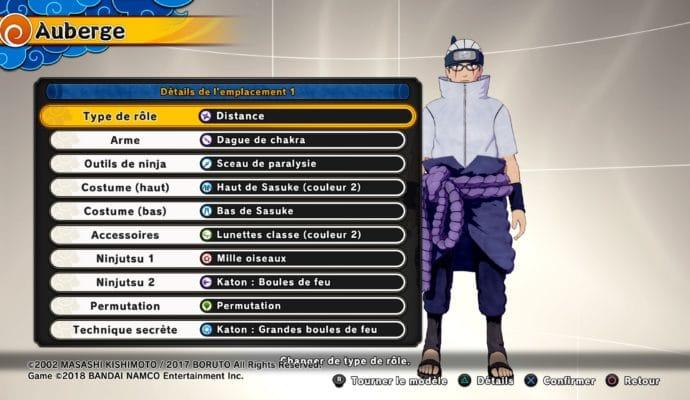 Naruto to Boruto: Shinobi Striker - Personnalisation