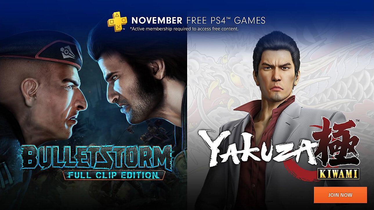 PlayStation Plus jeux gratuits de novembre 2018
