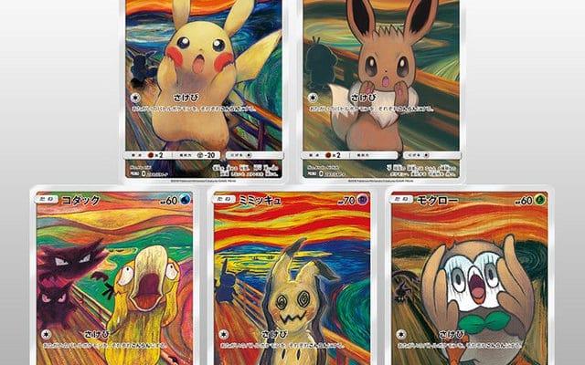 Pokemon - Munch, Le Cri, Pikachu, Psykokwak