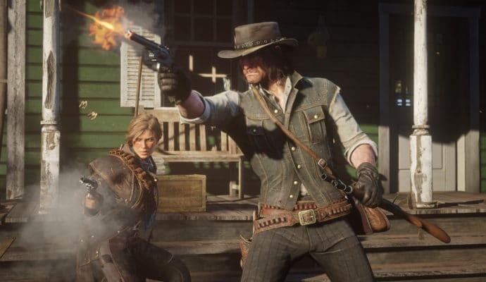 Red Dead Redemption 2 échange de coups de feu