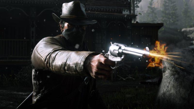 Red Dead Redemption 2 - nuit, arme à feu, tir