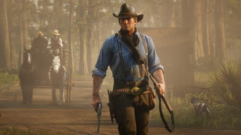 Red Dead Redemption 2 - diligence, orée, armé