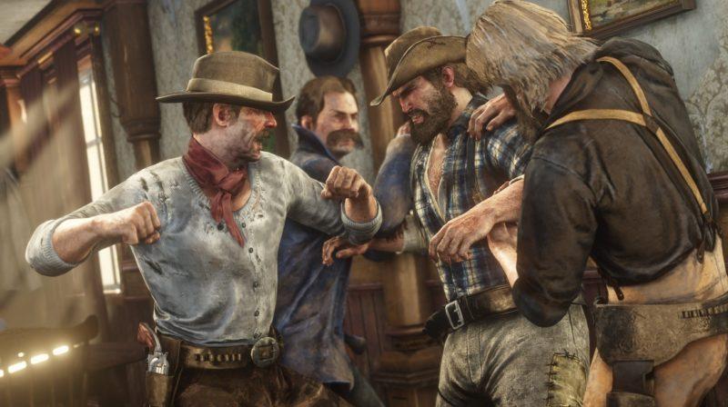 Red Dead Redemption 2 - bagarre, intérieur