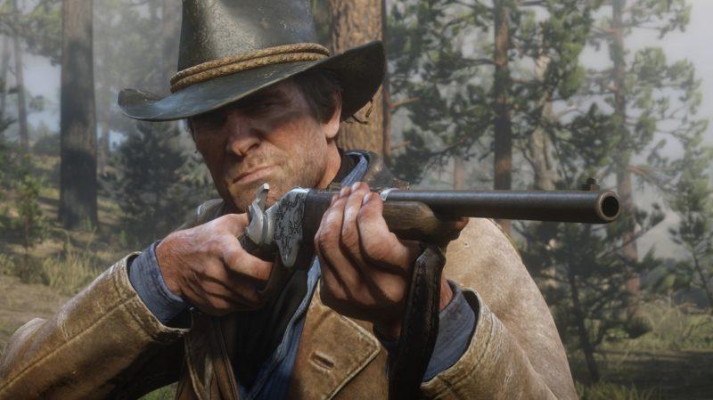 Red Dead Redemption 2 - fusil, forêt